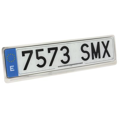 Stainless Steel Number Plate Frame Holder UK and EU size | Sumex