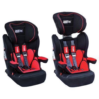 Isofix Child Seat for Groups 1-2-3 (9-36 kg) in Red and Black