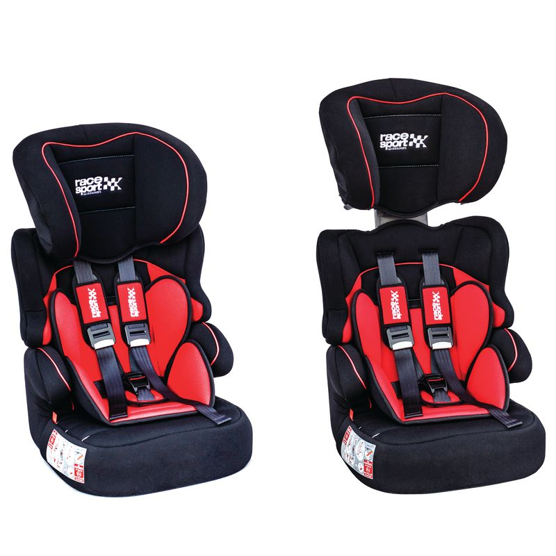 Child Seat for Groups 1-2-3 (9-36 kg) in Red and Black